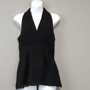 Banana Republic Black Silk Halter Top Size 4